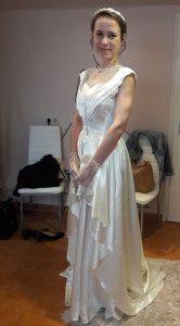 Vintage menyasszonyi ruha átalakítás