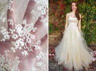 Esküvői ruhaszövetek jellemzői.